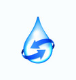 water drop with blue arrows vector image vector image