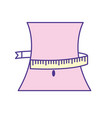 weist with measuring and reduce size vector image vector image