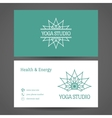 Yoga Studio Business Card Template vector image