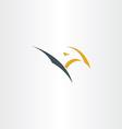 eagle stylized logo icon design vector image