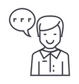 man talking line icon sign vector image