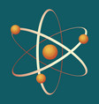 atom visual structure grey icon with circles vector image