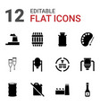 12 oil icons vector image vector image