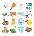 Baby cartoon icons set vector image vector image
