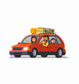 big family traveling car vector image