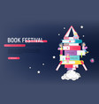 book festival vector image vector image