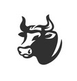 bull head black on white vector image vector image