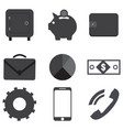 business icons flat eps 10 vector image