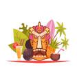 cartoon hawaii composition vector image vector image