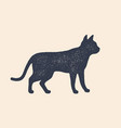 cat silhouette concept design home animals vector image