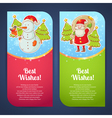 Christmas greeting postcards vector image