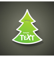 Christmas symbol tag vector image vector image