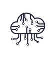 cloud network connection computing vector image vector image