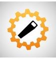 construction gear icon saw vector image