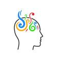 creative logo on white vector image vector image