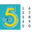 cycling race poster design vector image