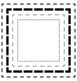 dashed line squares thin and thick lines cut vector image