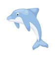 dolphin sea water mammal ocean vector image