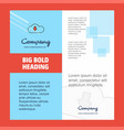 downloading company brochure title page design vector image vector image
