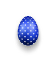 easter egg 3d icon blue color egg stars vector image