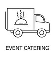 event catering isolated outline icon logo vector image