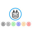 family portal rounded icon vector image vector image