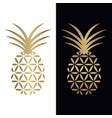 golden pineapple logo design vector image vector image