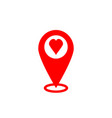 gps icon map pointer sign search for love vector image vector image