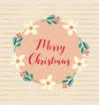 hand drawn merry christmas vector image