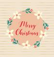 hand drawn merry christmas vector image