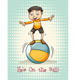 Hes on the ball vector image vector image
