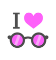 i love pink glasses vector image vector image