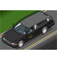 Isometric Hearse in Front View vector image vector image