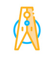 laundry service clothes peg thin line icon vector image