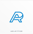 letter a r template vector image