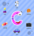 Letter C with words vector image vector image