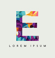 letter logotype logo abstract colorful triangle vector image vector image