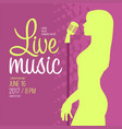 live music performance advertising template vector image