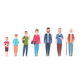 man character age stages cartoon people vector image vector image