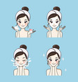 mask skin care woman vector image vector image