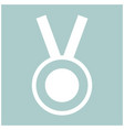 medal the white color icon vector image vector image