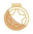 medallion with star award vector image vector image