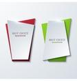 moder banners element design vector image vector image