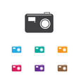 of movie symbol on photo vector image vector image
