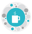 of office symbol on cup ico vector image vector image