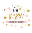oh batext with gold polka dot and pink star for vector image vector image