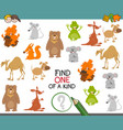 one of a kind game with animals vector image vector image
