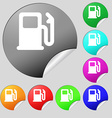 Petrol or Gas station Car fuel icon sign Set of vector image