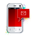 Phone with message symbol vector image vector image