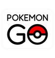 pokemon go logotype - creative simple vector image
